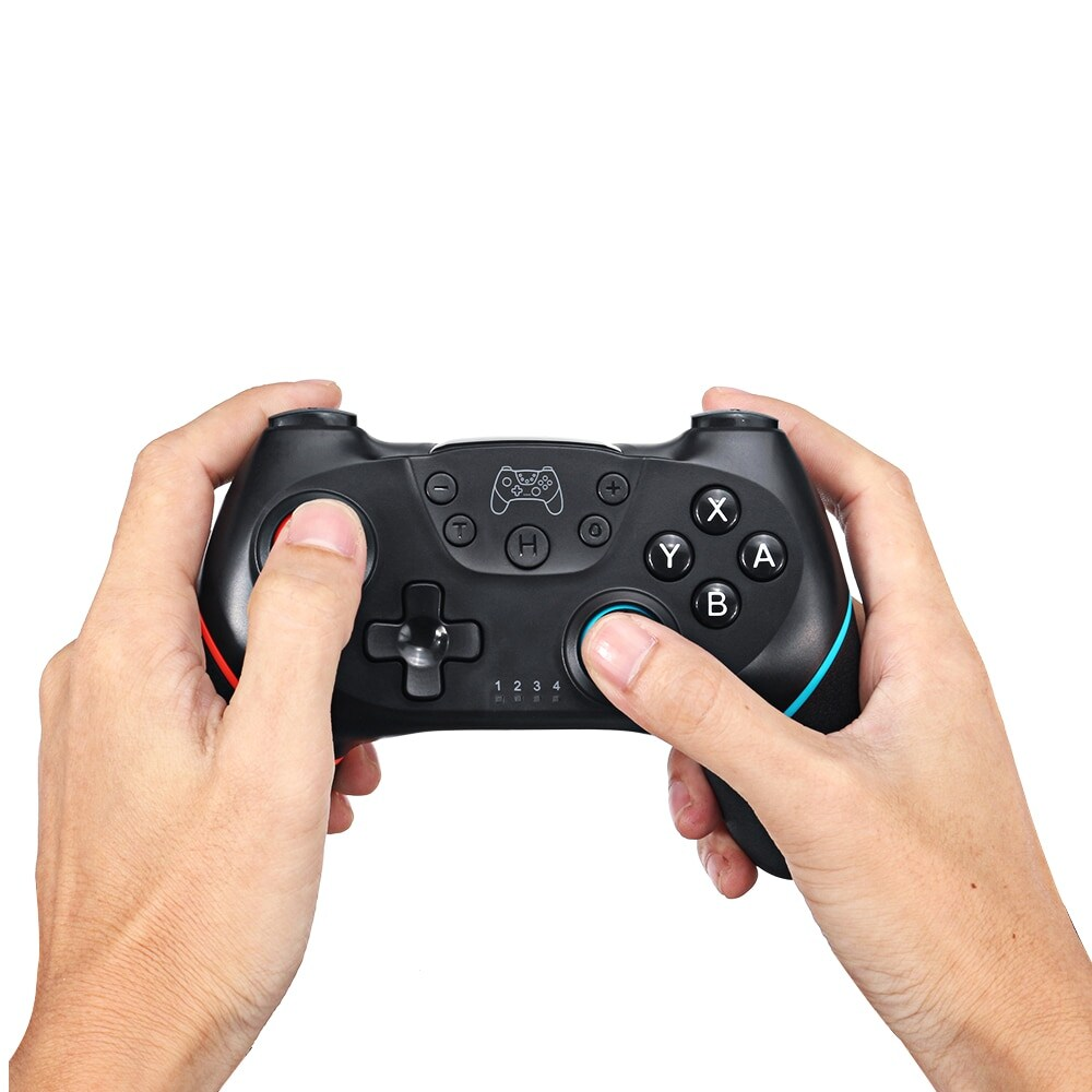 2 Pairs 2020 Bluetooth Pro Gamepad Joystick for Nintendo Switch NS-Switch Pro and NS Mini Black - 2