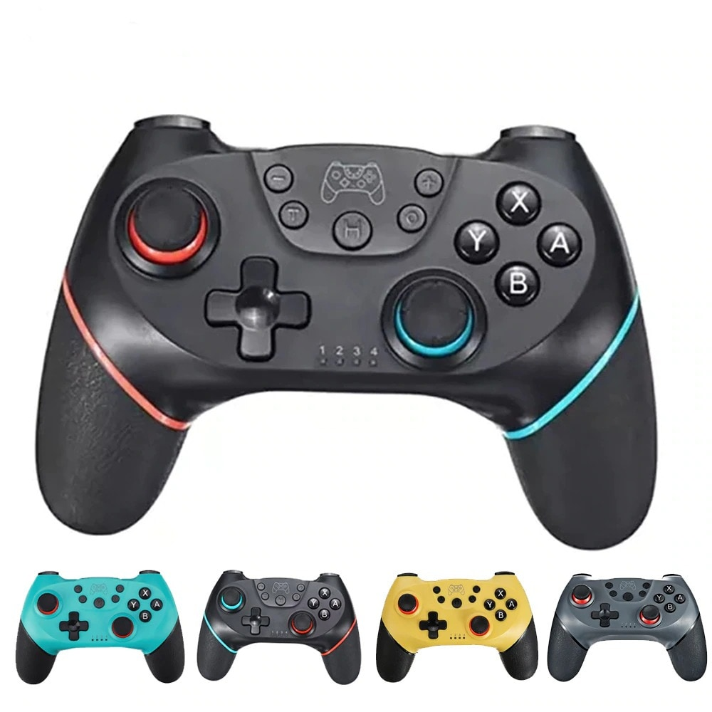 2 Pairs 2020 Bluetooth Pro Gamepad Joystick for Nintendo Switch NS-Switch Pro and NS Mini Blue - 2
