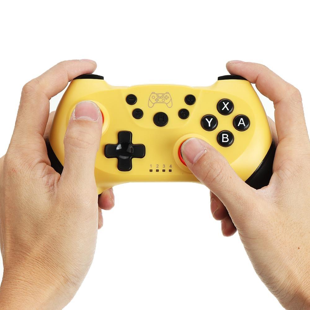 2 Pairs 2020 Bluetooth Pro Gamepad Joystick for Nintendo Switch NS-Switch Pro and NS Mini Yellow - 2