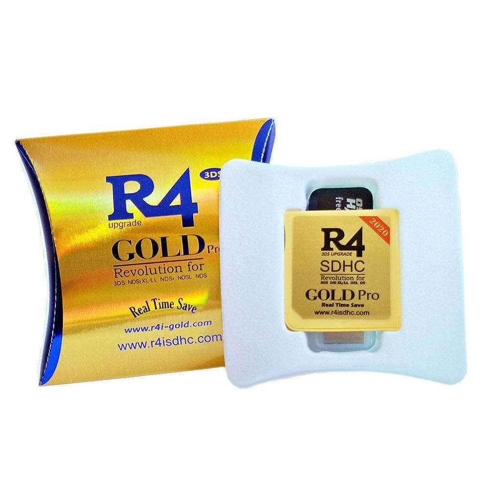 2020 R4 Gold Pro SDHC for DS/3DS/2DS/DSi Revolution Cartridge With USB Adapter - 2