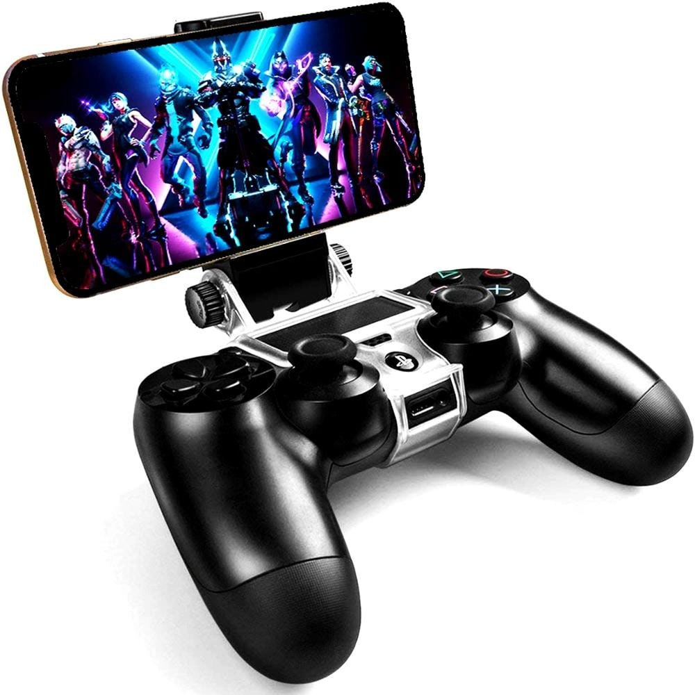 270x Degree PS4 Wireless Controller Phone clip Mountx Holder Stand Bracket Compatible with PS4 Pro/Slim Dualshock 4 Black - 1