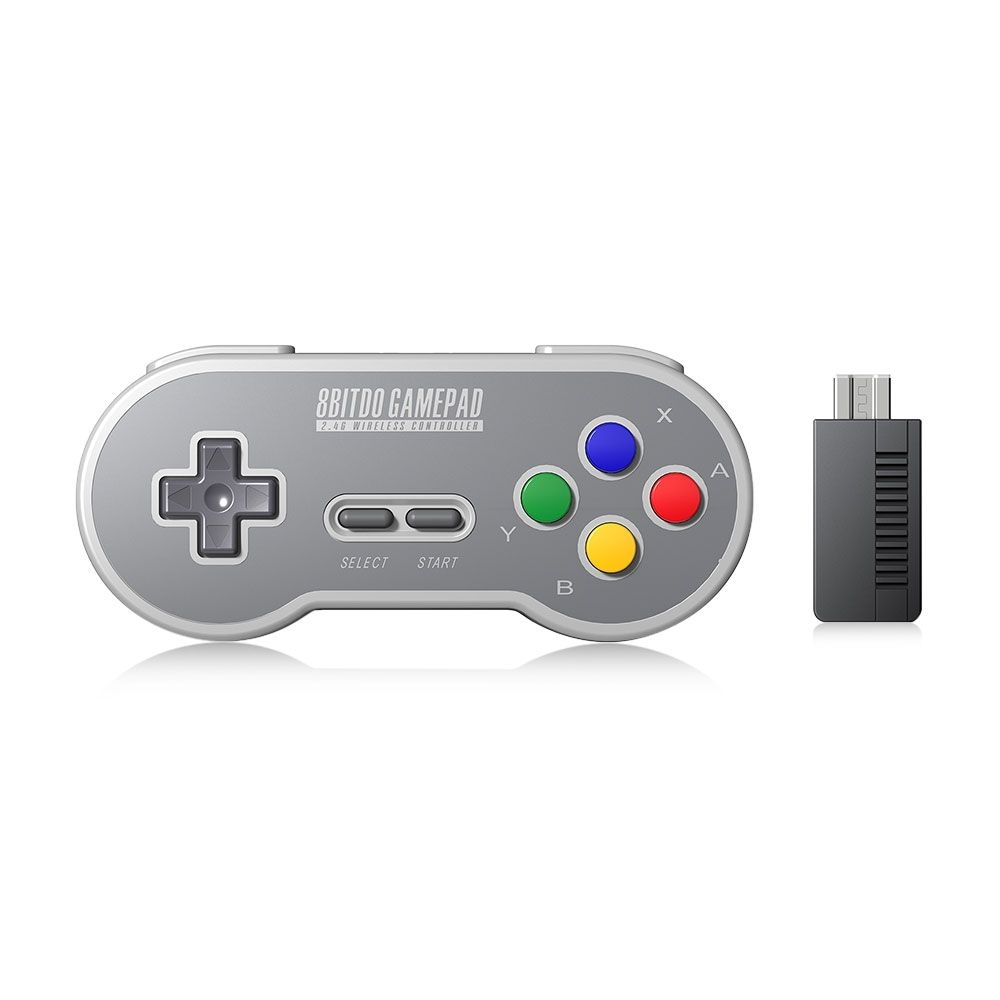 8Bitdo SF30 Wireless Controller with 2.4G NES Receiver Classic Joystick Gamepad for Android PC Mac - 7
