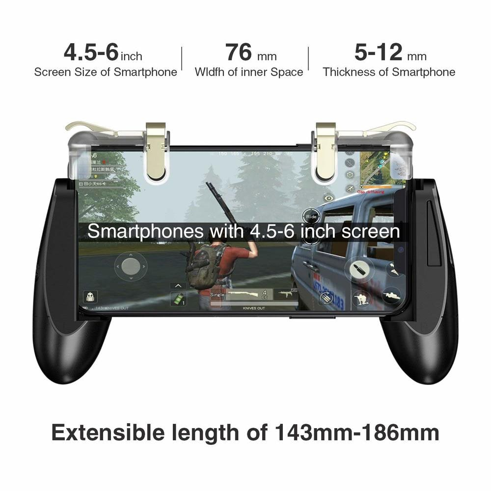 Accreate Gamepad for Knives Out PUBG Mobile Phone Shoot Game Controller L1R1 Shooter Trigger Fire Button 3 - 6