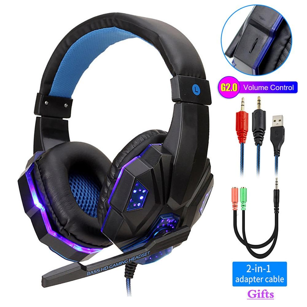Adjustable Gaming Headset For SONY Playstation/Xbox/NS/PC with Noise Cancelling and Mic Auriculares Blue - 1