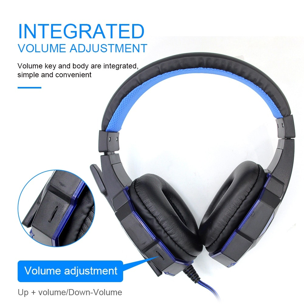 Adjustable Gaming Headset For SONY Playstation/Xbox/NS/PC with Noise Cancelling and Mic Auriculares Blue - 3
