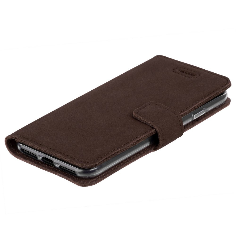 Apple iPhone 7 Plus- Surazo® Phone Case Genuine Leather- Nubuck Brown - 6