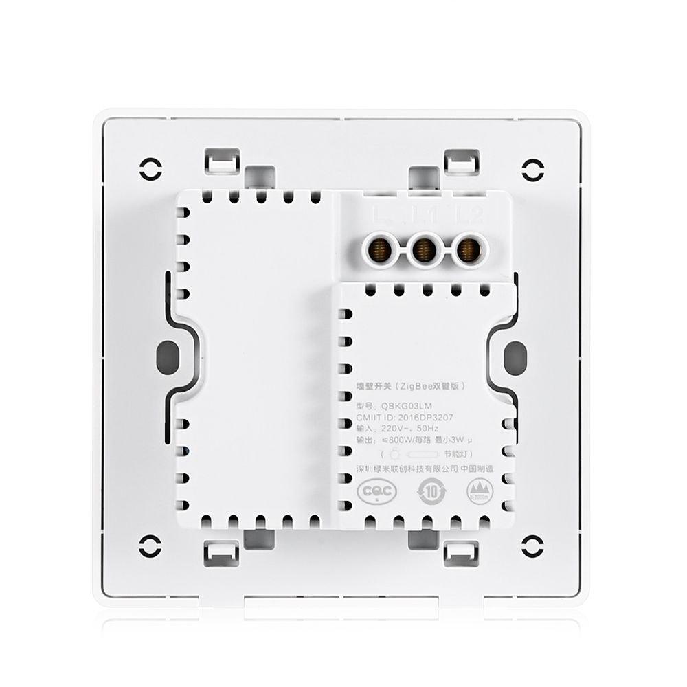 Aqara QBKG03LM Wall Switch Smart Light Control ZigBee Version ( Xiaomi Ecosystem Product ) DOUBLE KEY - 4