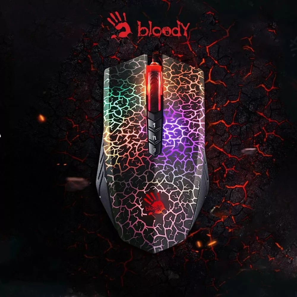 Bloody A70 4000DPI USB Optical Gaming Mouse Multi-Color - 6