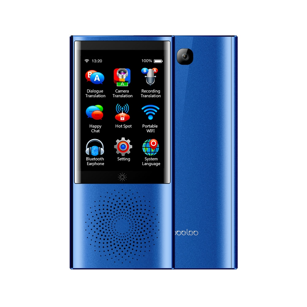 Boeleo W1 Voice Translator Smart Business Travel AI Translation Machine - 2.8 Inch Screen Languages (Blue) - 1