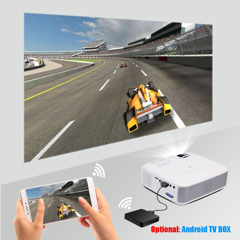 BYINTEK Mini Projector C520 T6 with Portable LED Proyector for Cell Phone / 1080P / 3D / 4K - 3