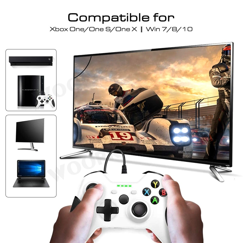 Controller for Xbox One, Xbox One Slim and PC Windows White - 3
