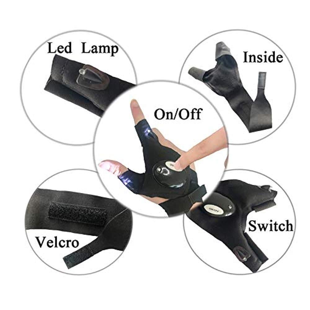 Fingerless LED Flashlight Gloves for Repairing - 4