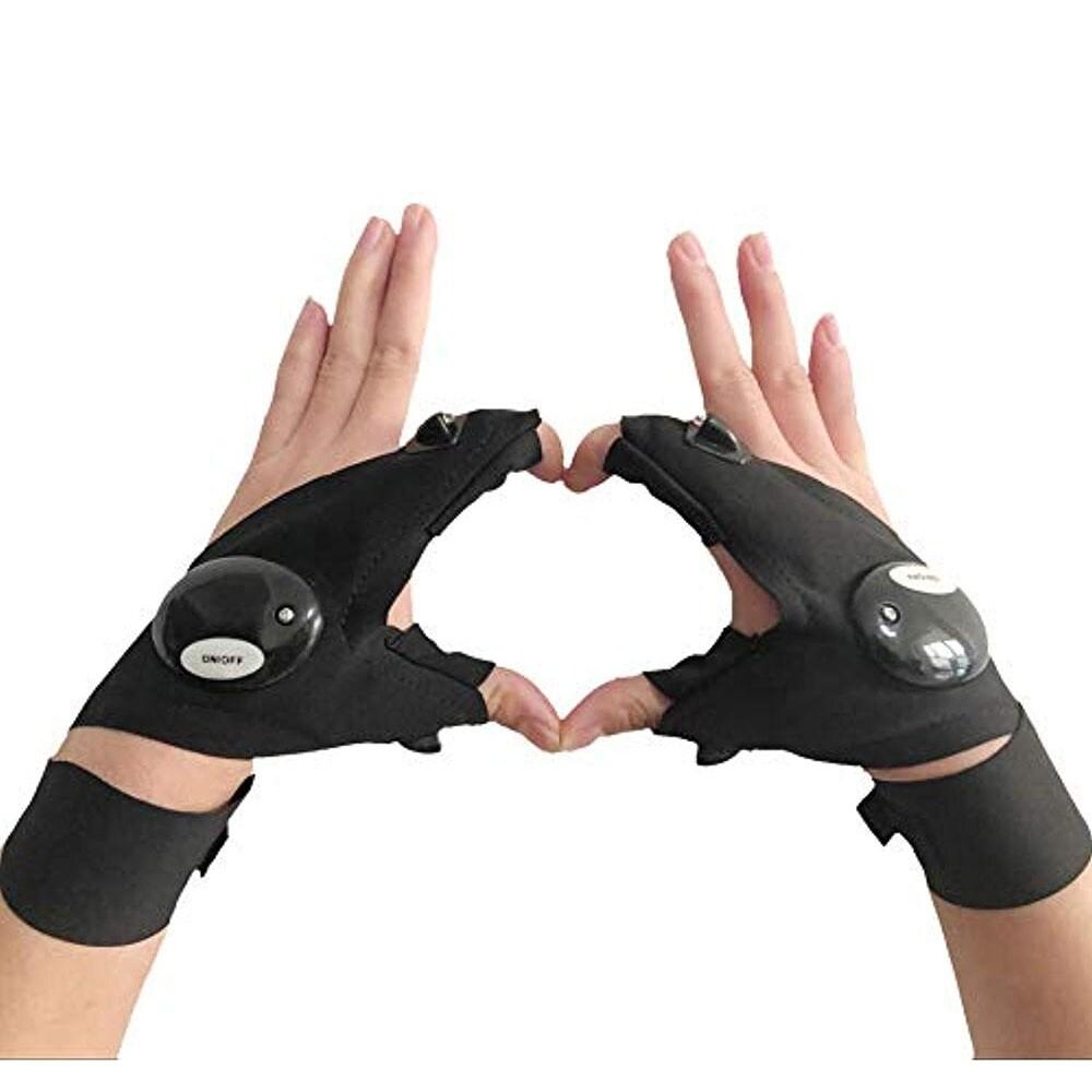 Fingerless LED Flashlight Gloves for Repairing - 1