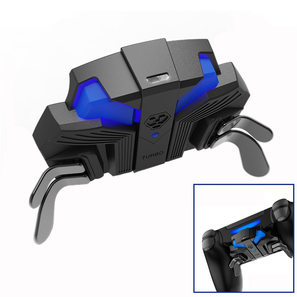 For PS4 Slim/Pro Controller Gamepad Back Expansion Button FPS Mapping Key Adapter Turbo MODS Elite Paddies - 2
