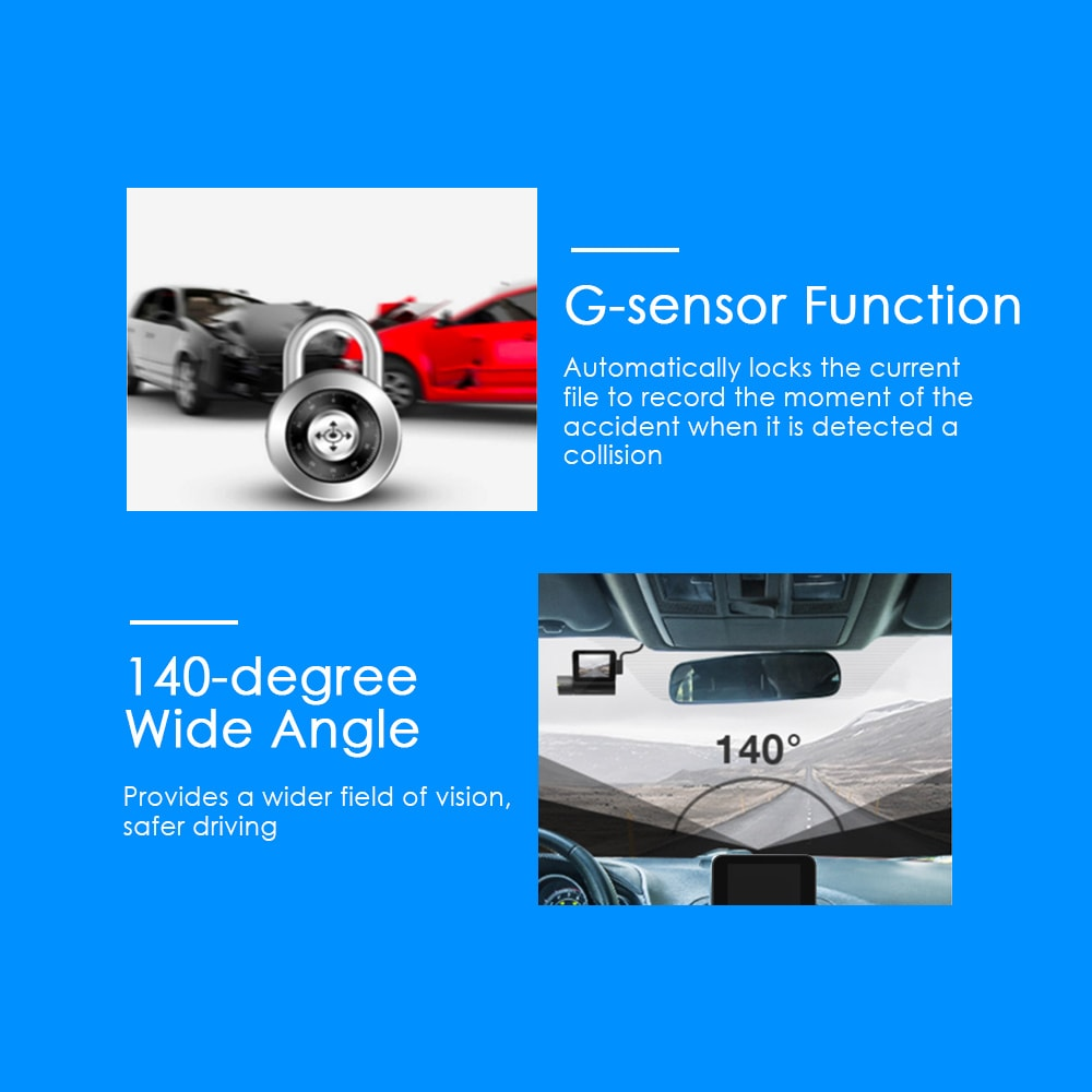Full HD Car Driving Recorder 24h Surveillance Superior Night Vision - 4