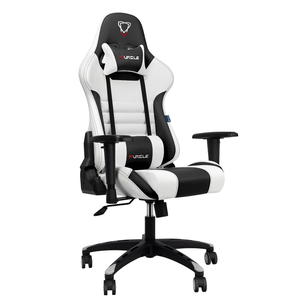FURGLE ADJUSTABLE GAMING CHAIR Gaming Chair Black & white Not Specified - 1