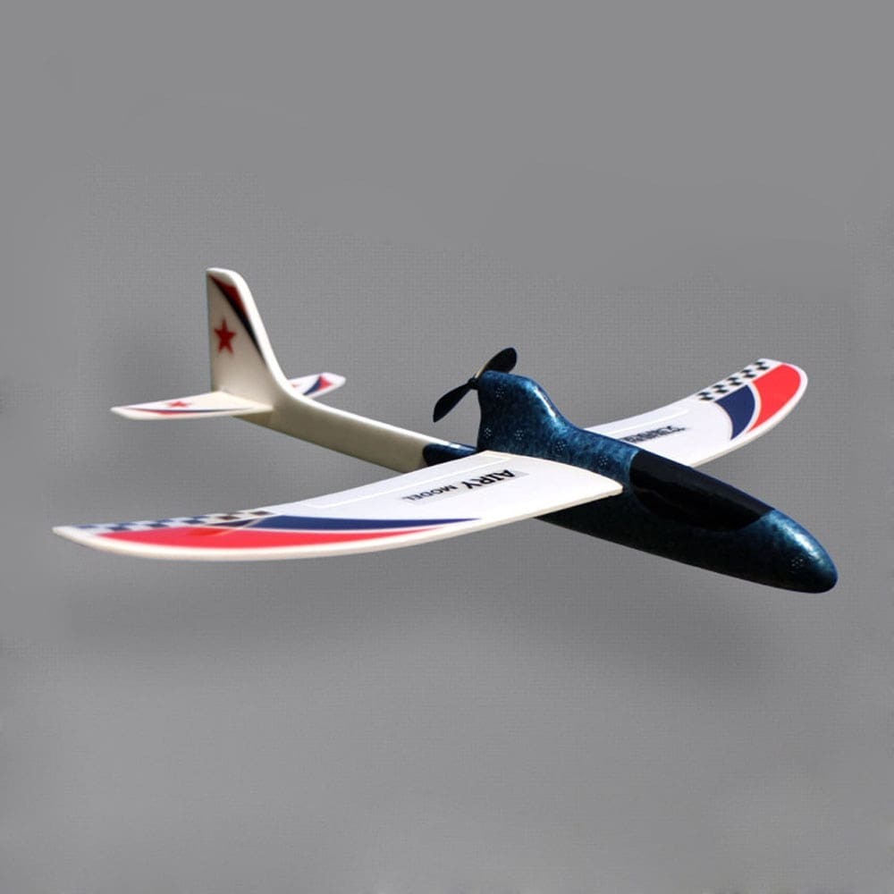 Glider Foam RC Drone Capacitor Hand Throwing Electric Plane Resistance to falling Toys Orange - 2