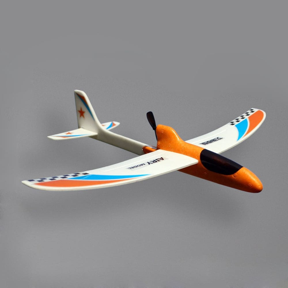 Glider Foam RC Drone Capacitor Hand Throwing Electric Plane Resistance to falling Toys Orange - 3