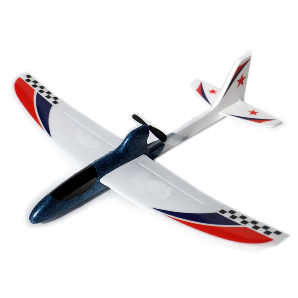 Glider Foam RC Drone Capacitor Hand Throwing Electric Plane Resistance to falling Toys Orange - 4