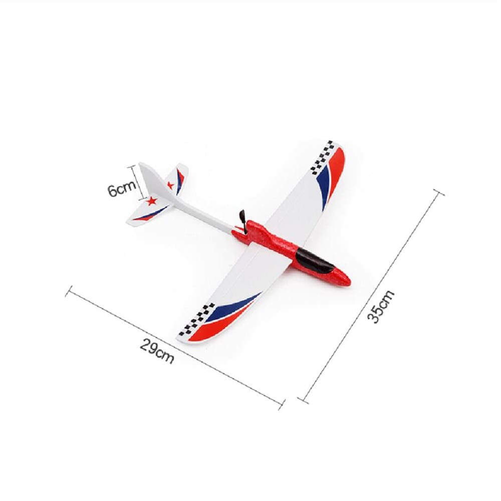 Glider Foam RC Drone Capacitor Hand Throwing Electric Plane Resistance to falling Toys Orange - 6