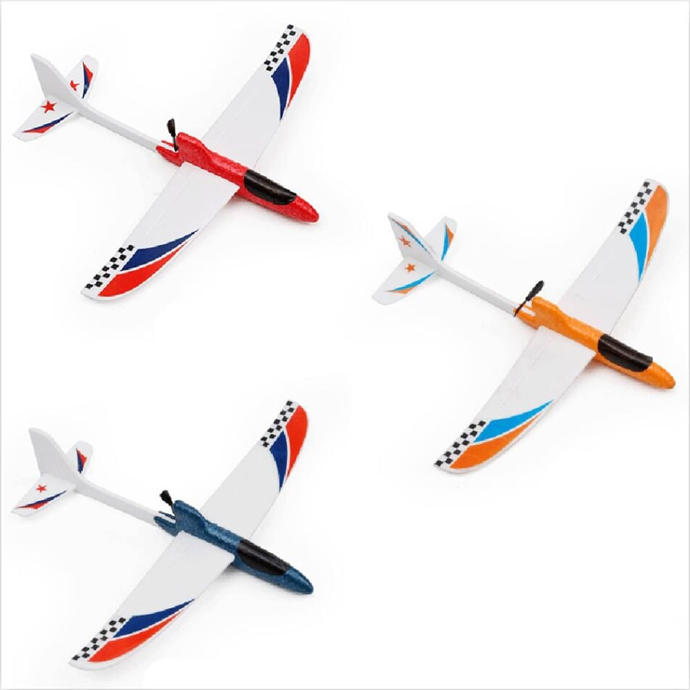 Glider Foam RC Drone Capacitor Hand Throwing Electric Plane Resistance to falling Toys Orange - 5