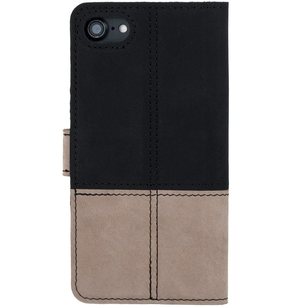 Google Pixel 5- Surazo® Phone Case Genuine Leather- Black and Beige - 3