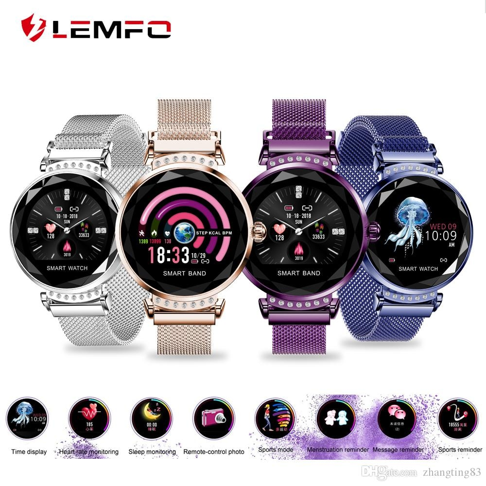 H1 Waterproof Women Lady Fashion Smart Watch Bracelet Sport Fitness Tracker Blue CHINA - 1
