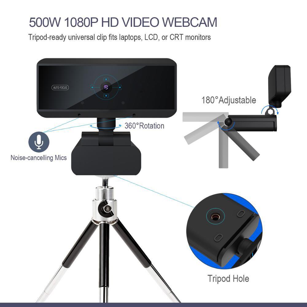 HD 1080P Webcam Built-in Microphone Auto Focus Web Camera - 5