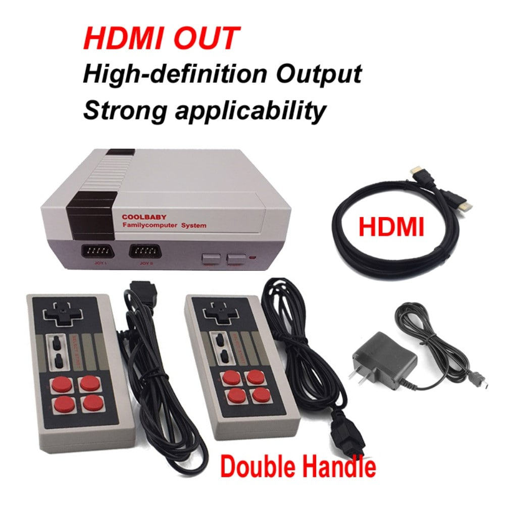 HDMI NES Mini Classic Edition Retro Video Games Console with 2 Controllers Built-in 600 Classic Nintendo Games - 1