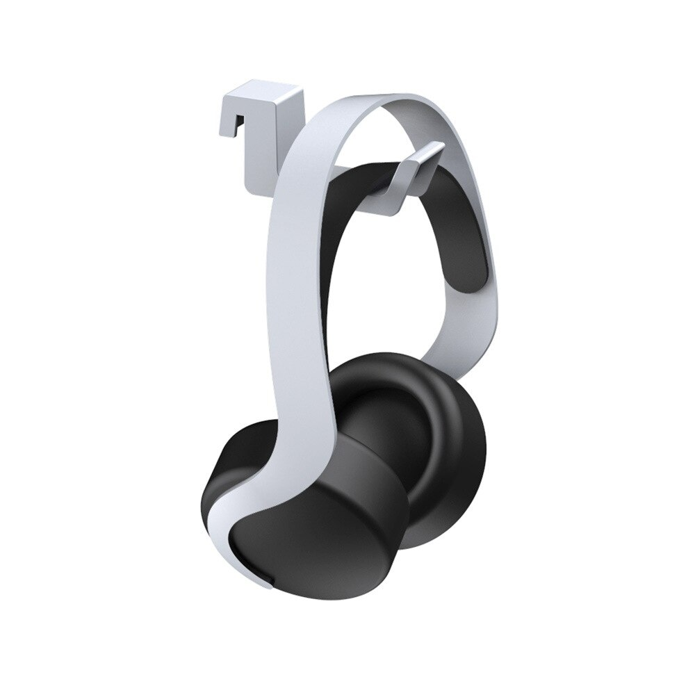 Headset Rack Holder for PlayStation5 with Gift 2 Controller Grips White - 3