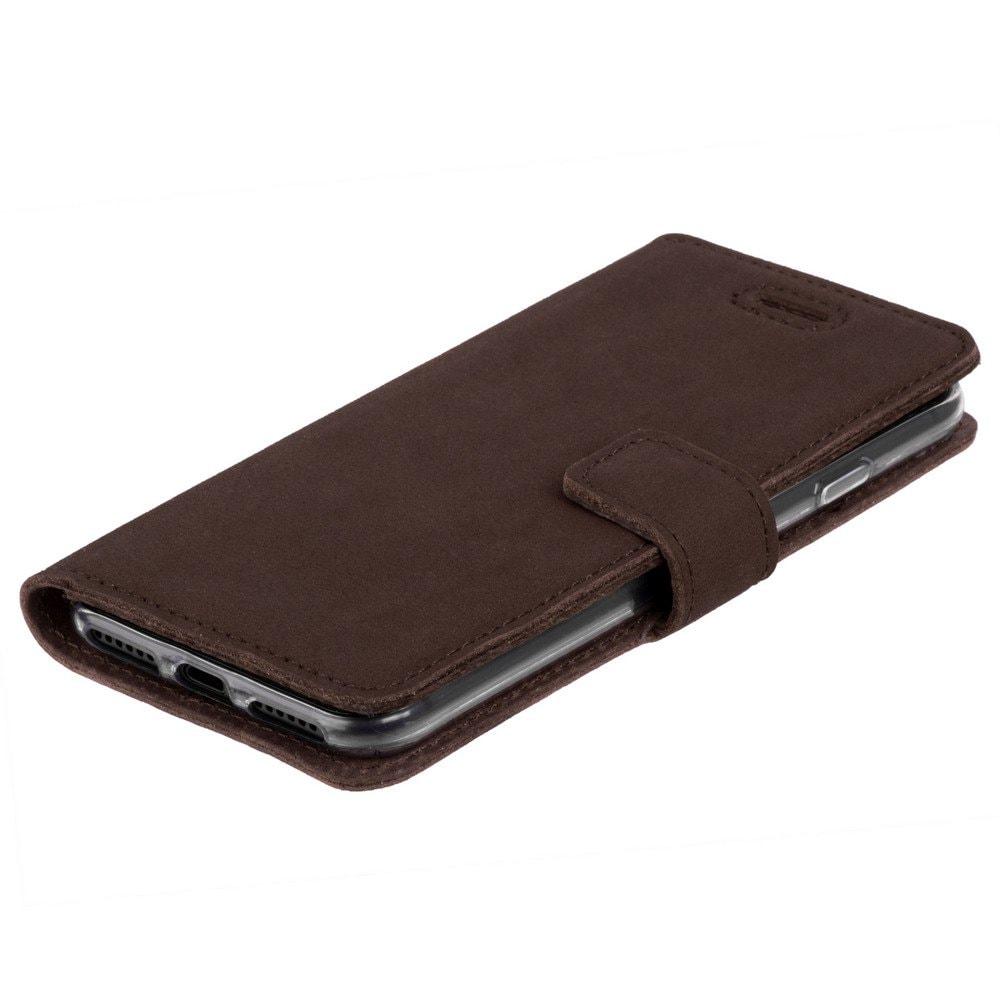 Huawei P30 Lite- Surazo® Phone Case Genuine Leather- Nubuck Brown - 6