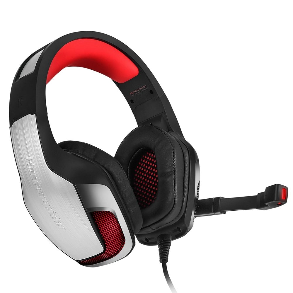 Hunterspider V - 4 3.5mm Headsets Bass Gaming Headphones with Mic LED Light for Mobile Phone PC Xbox PC - 2