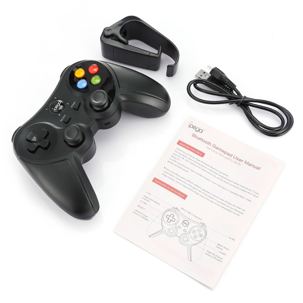 ipega PG - 9078 Universal Wireless Bluetooth Game Controller with Bracket for Android / iOS / PC - 6
