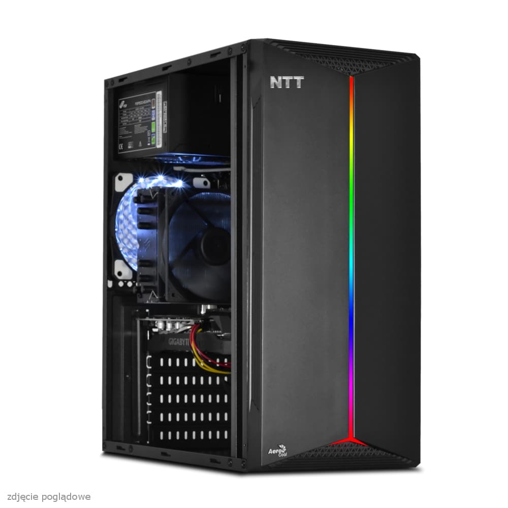 KOMPUTER DO GIER NTT GAME S - I3-10105F, GT 1030 2GB, 8GB RAM, 512GB SSD, W10 Black - 4