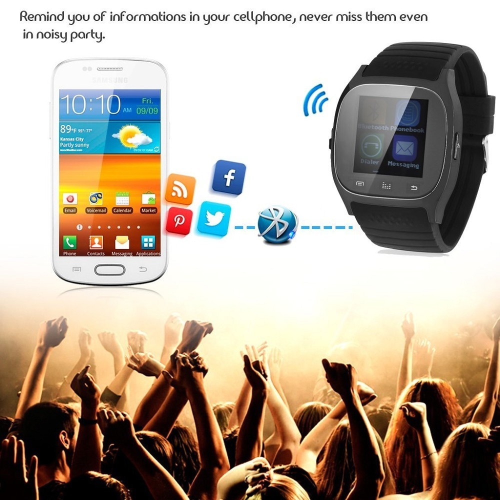 M26 Bluetooth Touch Screen Smart Watch  Black - 8
