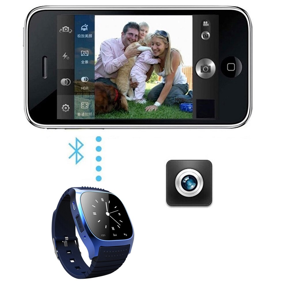 M26 Bluetooth Touch Screen Smart Watch  Black - 7
