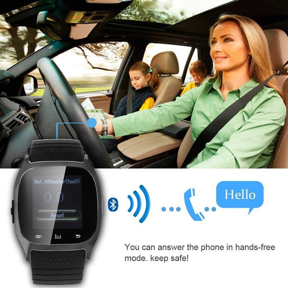 M26 Bluetooth Touch Screen Smart Watch  Blue - 9