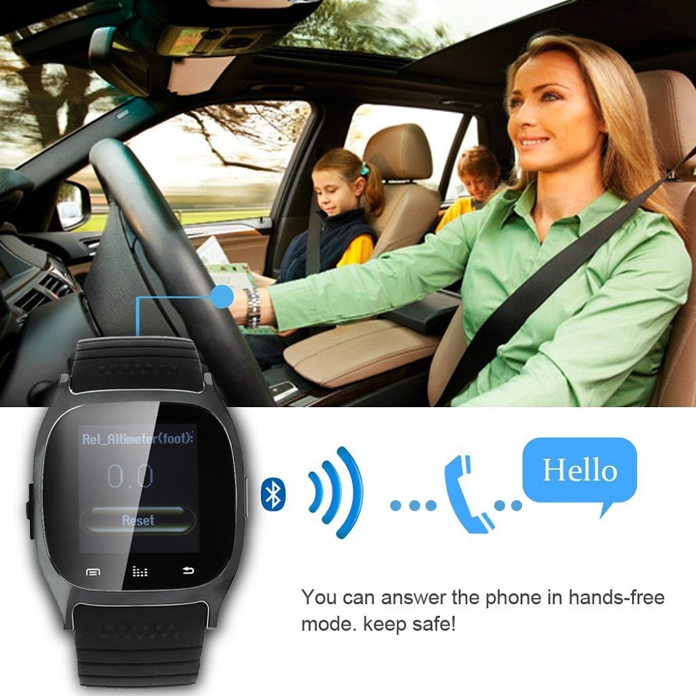 M26 Bluetooth Touch Screen Smart Watch  White - 9
