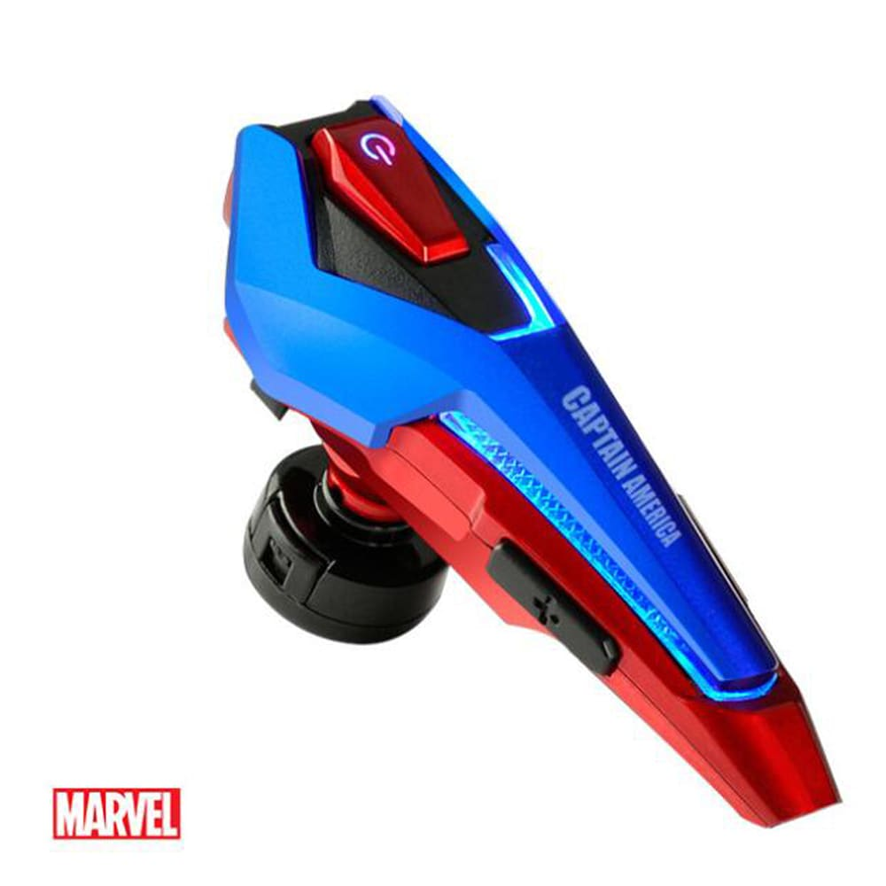 Marvel's Avengers 4 EBT945 Bluetooth Headset Unilateral Sports Earplug Captain America Blue - 1