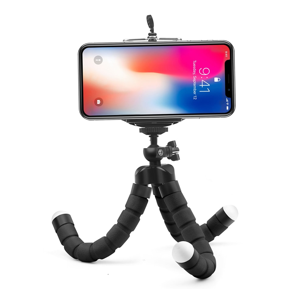 Mini Flexible Octopus Tripod for Smartphones Android and IOS Black - 2