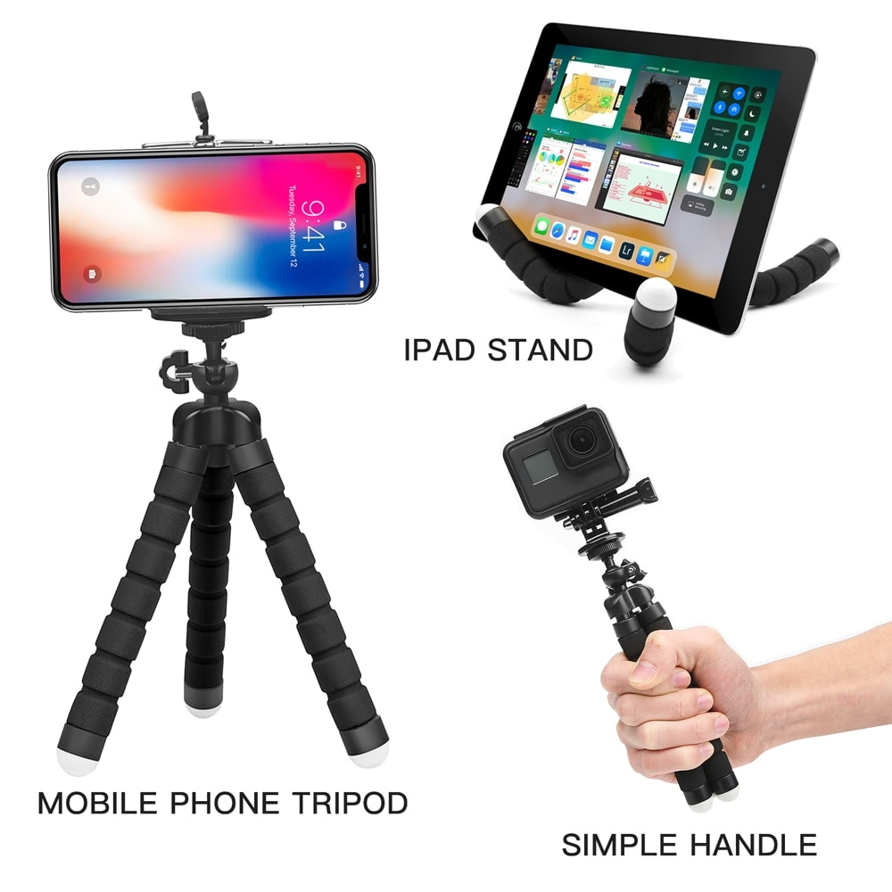 Mini Flexible Octopus Tripod for Smartphones Android and IOS Black - 5