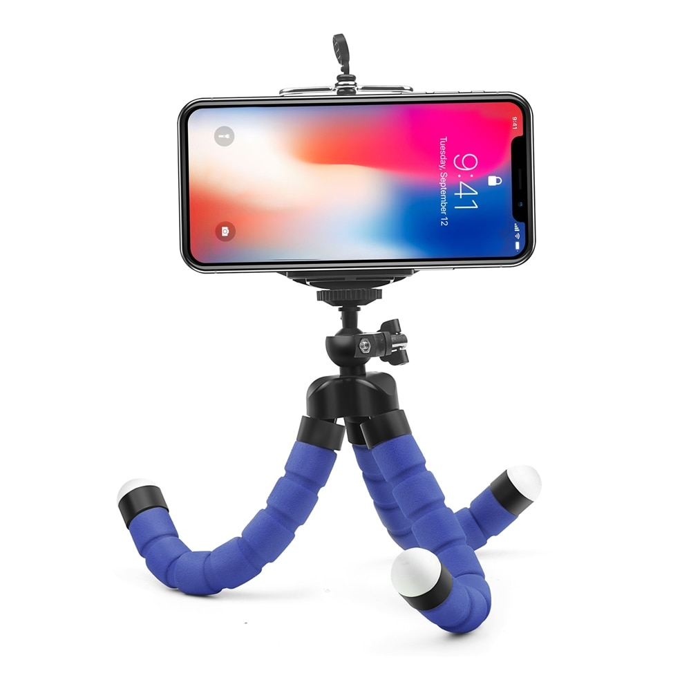 Mini Flexible Octopus Tripod for Smartphones Android and IOS Black - 3