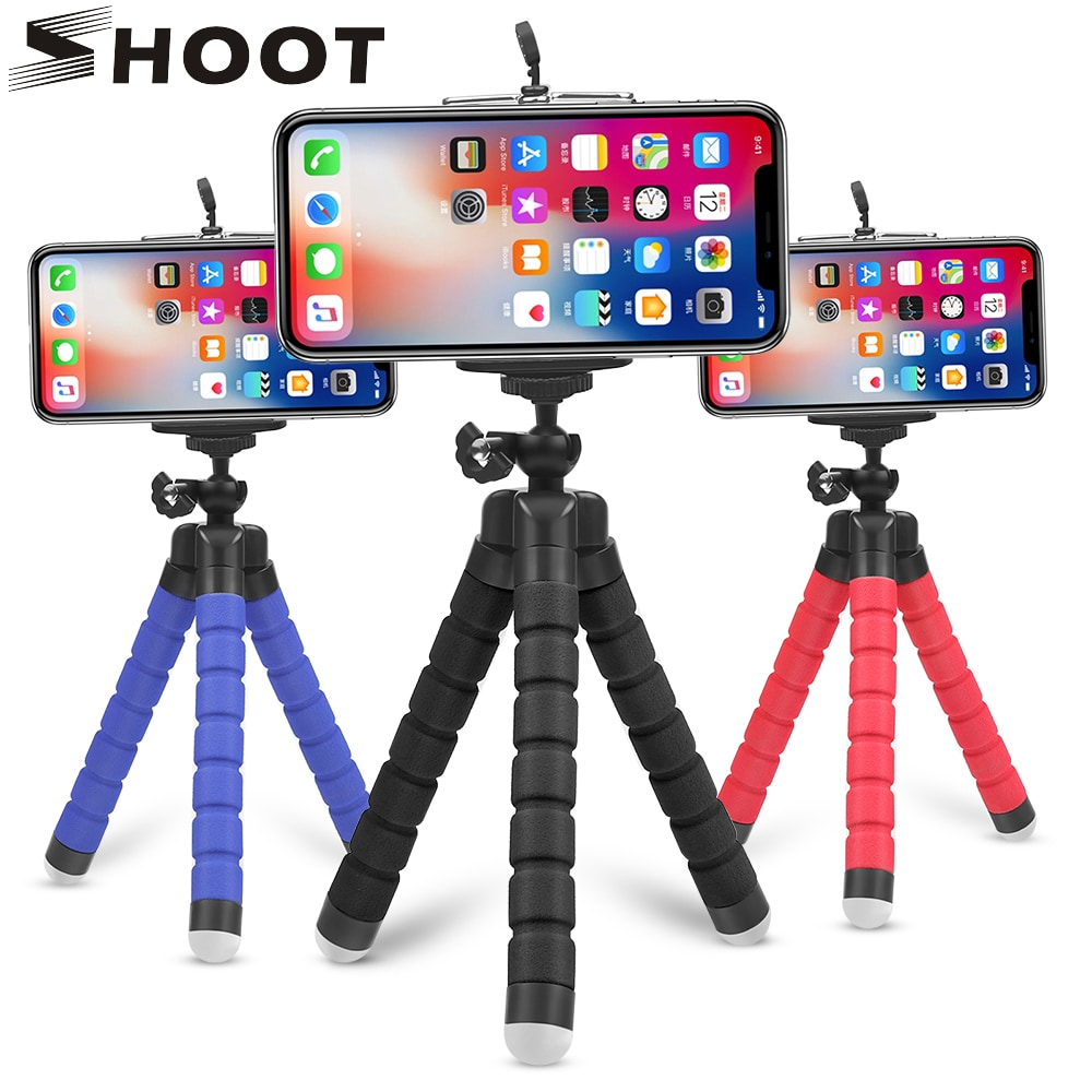 Mini Flexible Octopus Tripod for Smartphones Android and IOS Blue - 1