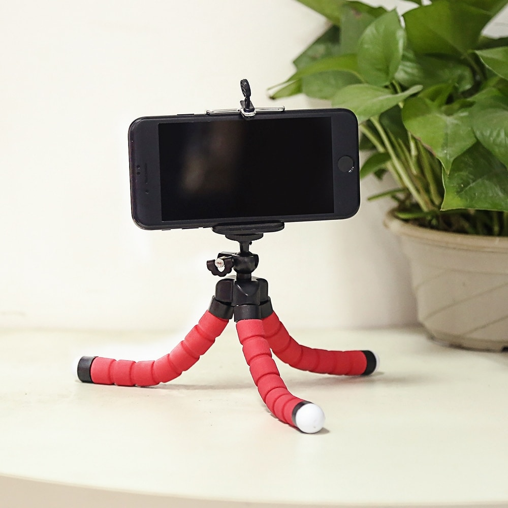 Mini Flexible Octopus Tripod for Smartphones Android and IOS Red - 6