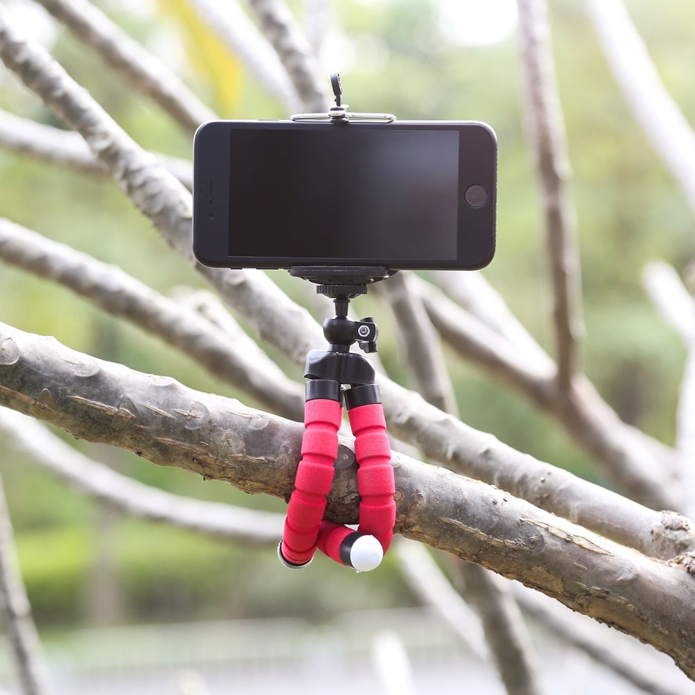 Mini Flexible Octopus Tripod for Smartphones Android and IOS Red - 7