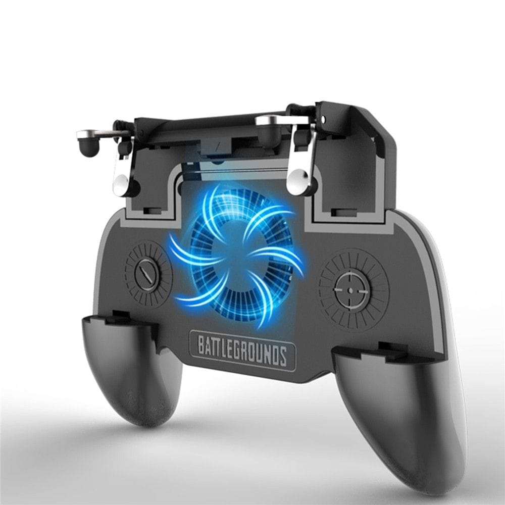Mobile Game Cooling Fan with 4000mAh Battery Trigger Fire Button L1R1 Controller - 1