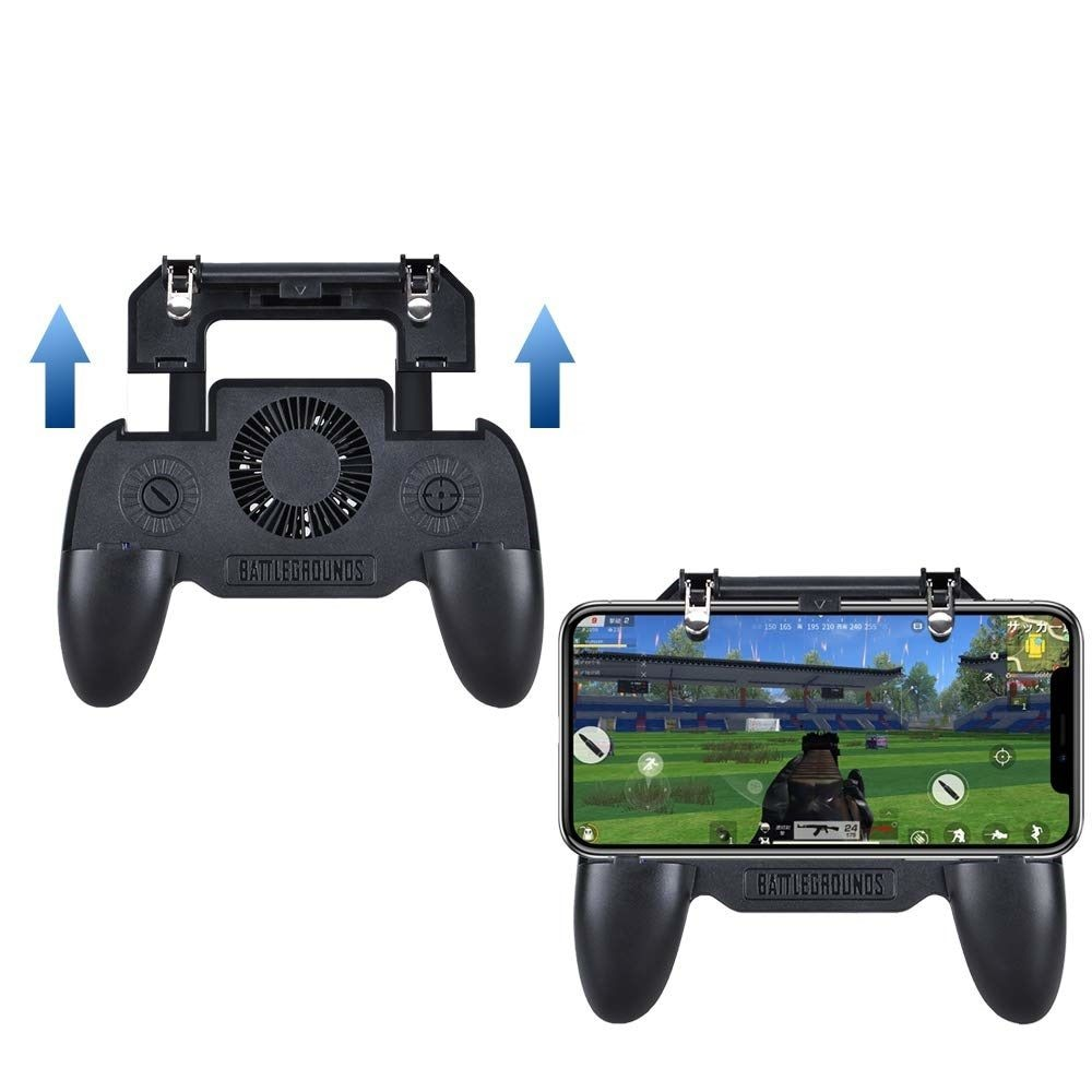 Mobile Game Cooling Fan with 4000mAh Battery Trigger Fire Button L1R1 Controller - 3