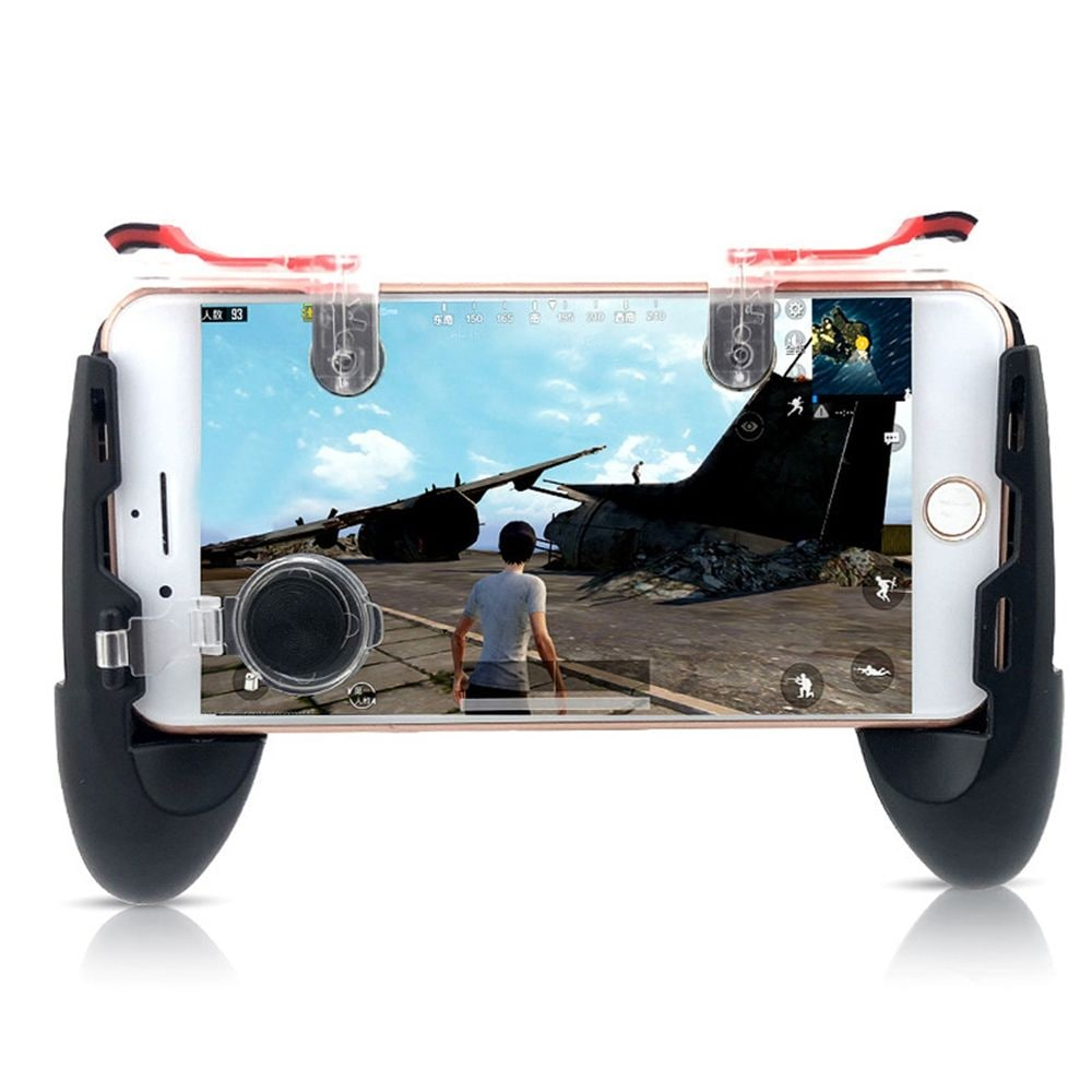 Mobile Phone Game Controller Trigger Fire Button Joystick Gamepad 4in1 - 1