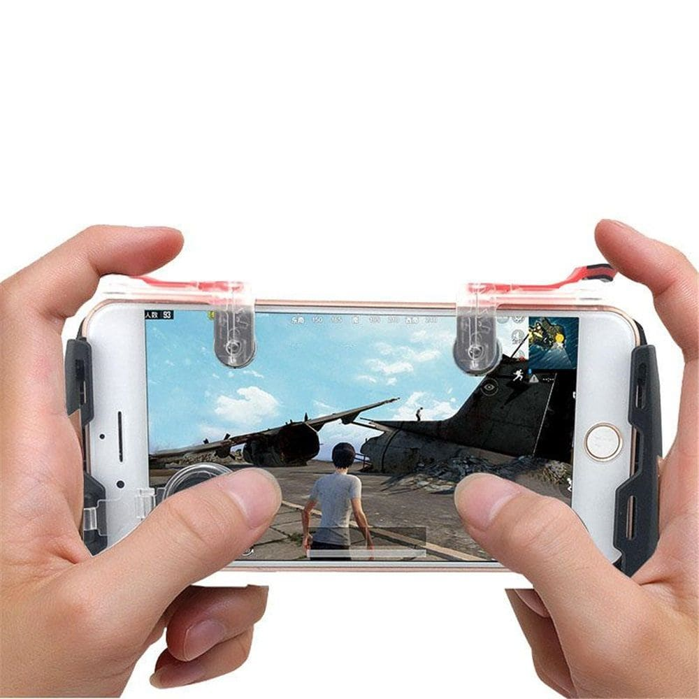 Mobile Phone Game Controller Trigger Fire Button Joystick Gamepad 4in1 - 2