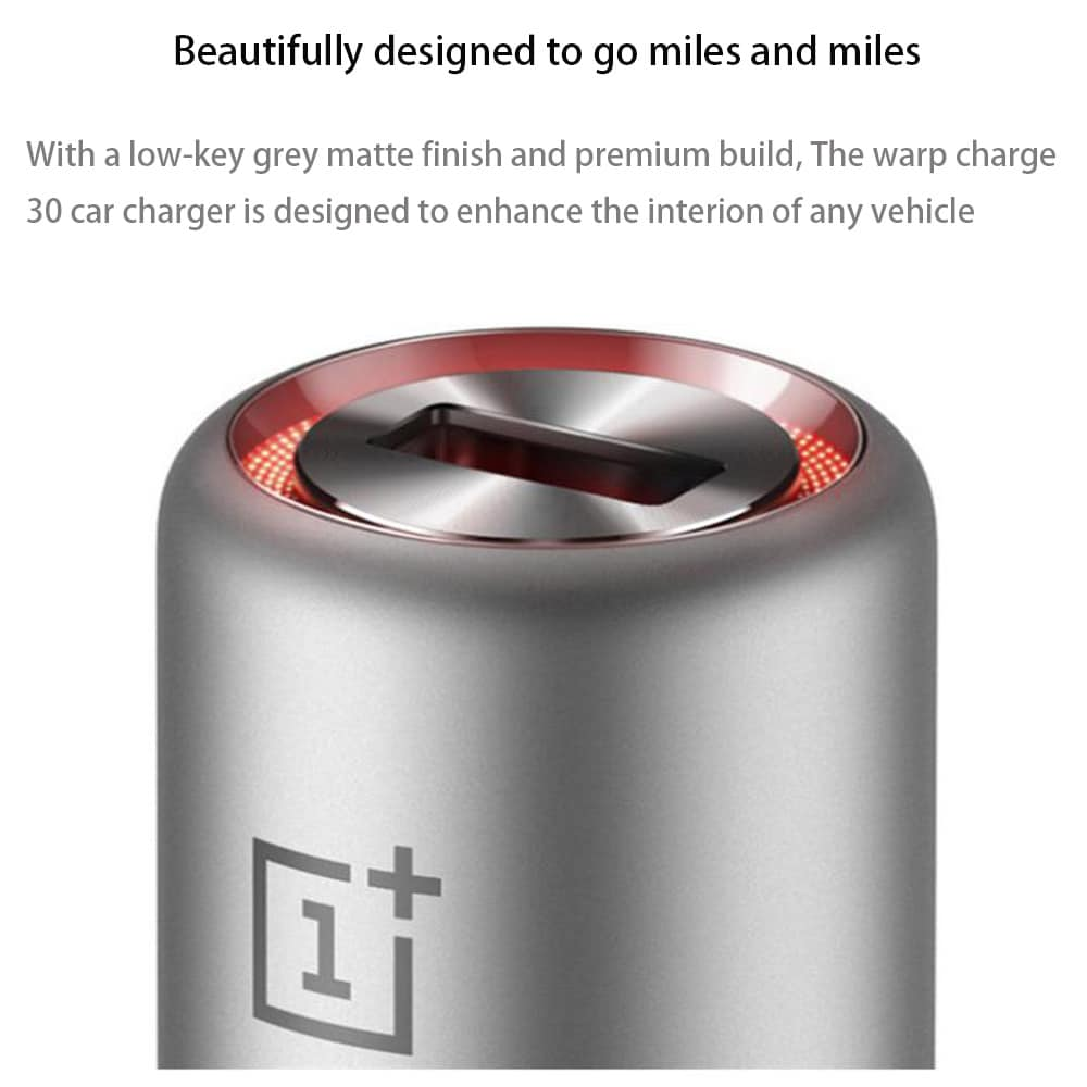 Oneplus Warp Fast Car Charger 30W & Type-C Cable for Oneplus 8 Pro Nord 7 7T 6T 5 Black - 2